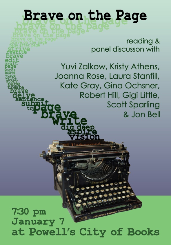 Brave on the Page Powells Reading Poster 01